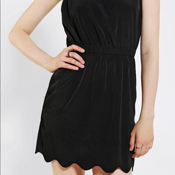 Urban Outfitters Dresses Bycorpus Black Scalloped Dress Poshmark